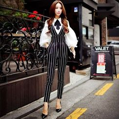 Dabuwawa - Striped Jumper Pants