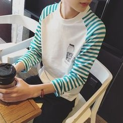 MEING - Long-Sleeve Printed Raglan T-Shirt
