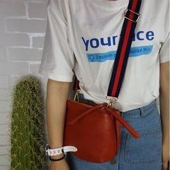 Bolso - Faux Leather Crossbody Bag