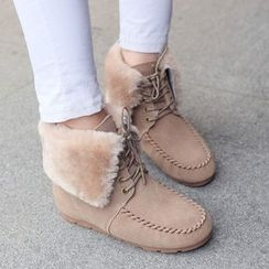 Sidewalk - Furry Short Boots