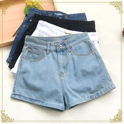 Fairyland - High Waist Denim Shorts