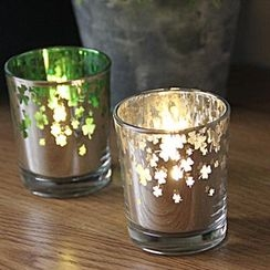 Thula Design - Clover Glass Candle Holder with Candle