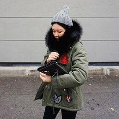DISCOSALON - Appliqué Faux-Fur Jacket