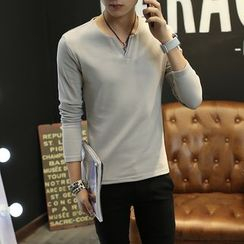 Kashen - V-Neck Long-Sleeve T-Shirt