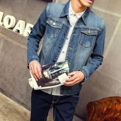 Denimic - Fleece Lined Denim Jacket
