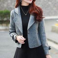 Donnae - Set: Woolen Coat + A-Line Dress