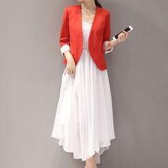 Donnae - 套装: 吊带连衣中裙 + 西装外套
