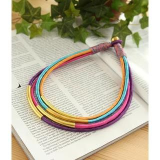 Petit et Belle - Multistrand Wrapped Bib Necklace