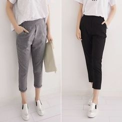 Angel Shine - Plain Cropped Pants