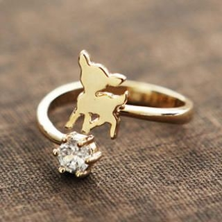 Cuteberry - Rhinestone Deer Ring