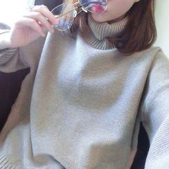 lilygirl - 寬鬆樽領毛衣