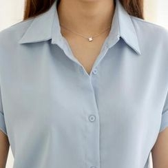 WHITE FOX - Cuffed Chiffon Blouse