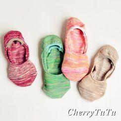 櫻桃兔兔 - 純色船襪子