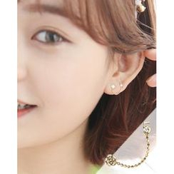 Miss21 Korea - 10K Gold Double-Piercing Earring (Single)