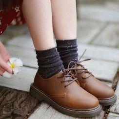 Socka - 加厚带标彩点中筒袜