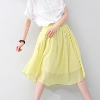 To/Youth - Pleated Midi Skirt