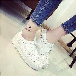 Wello - Lace-Up Platform Shoes