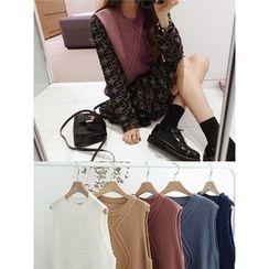 hellopeco - Round-Neck Knit Vest