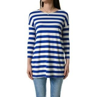 TheLees - 3/4-Sleeve Oversized Stripe T-Shirt