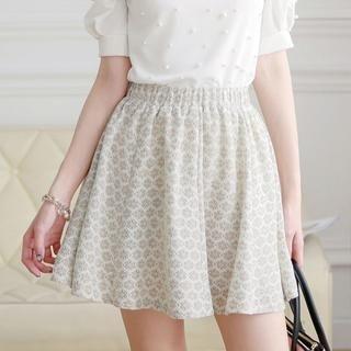 Tokyo Fashion - Floral Lace A-Line Skirt