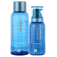 Laneige - Homme Active Water Set : Skin Refiner 150ml + Emulsion 125ml