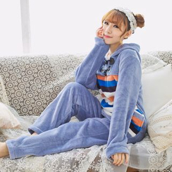 Dreamland - Pajama Set: Fleece Long Sleeve Top + Pants