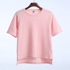 Lina - Short-Sleeve Plain T-Shirt