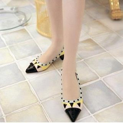 JY Shoes - Studded Monster Pointy Flats