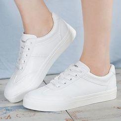 Renben - Plain Lace Up Sneakers