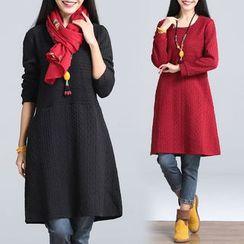 One2One - Plain Long-Sleeve Dress