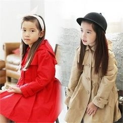 TWINSBILLY - Girls Detachable Hood Trench Coat