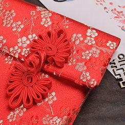 Jacquard Bloom - Large Fabric Red Pocket