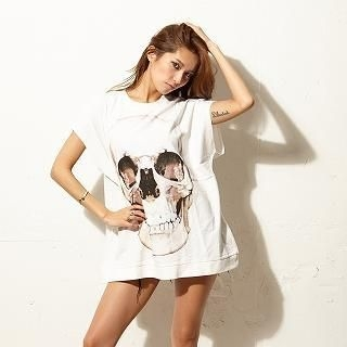 GLAD NEWS - Patterned Short Sleeves Loose-Fit T-shirt
