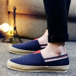 HANO - Striped Applique Slip-Ons