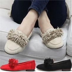 Reneve - Fringed Faux-Suede Loafers