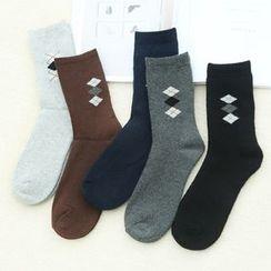 Rosikane - Set of 5: Check Socks
