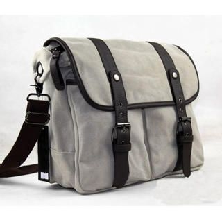 Buckled Canvas Messenger Bag