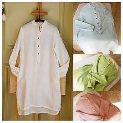 Rosadame - 中式领衬衫裙