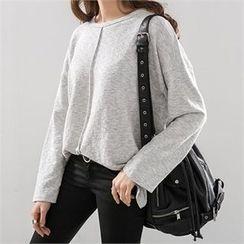 PEPER - Drop-Shoulder Plain T-Shirt