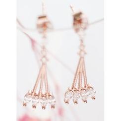 kitsch island - Rhinestone Drop Earrings