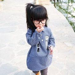 CUBS - Kids Striped Long Sleeve Shirtdress