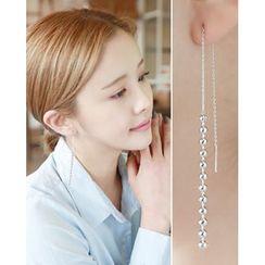 Miss21 Korea - Ball-Chain Threader Earrings