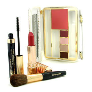 The Makeup Traveler: Blush+ 4x Eyeshadow+ Mascara+ Lipstick+ Brush+ Case
