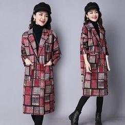 Yeeya - 格子长款西装外套