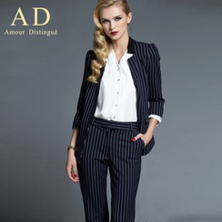 Aision - Striped Jacket / Pants / Skirt