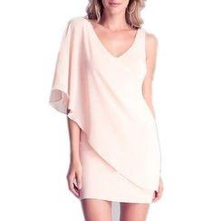 LIVA GIRL - Ruffle Trim Sleeveless Mini Dress