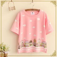 Fairyland - Cityscape Rubber Print T-Shirt