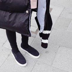 mimi&didi - Contrast-Trim Hooded Padded Coat