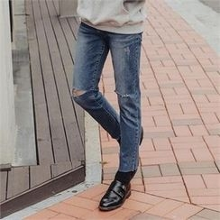 STYLEMAN - Distressed Skinny Jeans