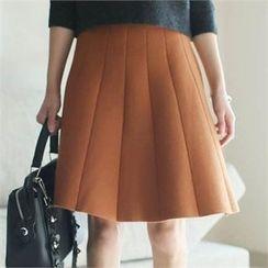 YOOM - Elastic-Waist A-Line Skirt